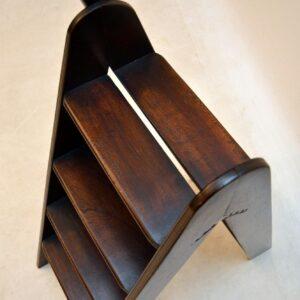 Antique Mahogany Folding Library Steps