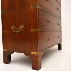 Antique Campaign Style Mahogany Chest of Drawers