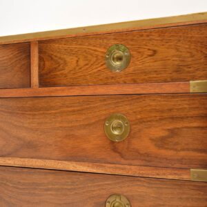 Antique Mahogany & Brass Military Campaign Chest of Drawers