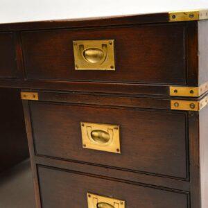 Antique Mahogany Military Campaign Partners Desk