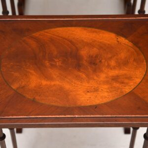 Antique Regency Style Mahogany Nest of Four Tables