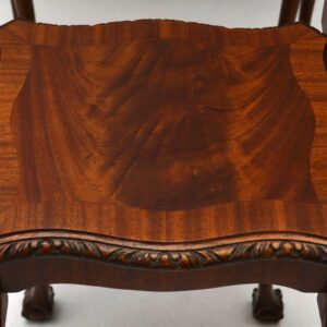 Antique Queen Anne Style Mahogany Nest of Tables