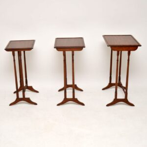 Antique Edwardian Mahogany Nest of Tables