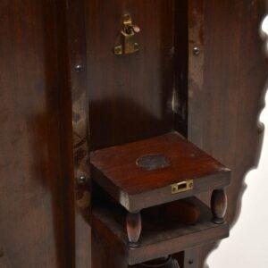 Antique Mahogany Flip Top Occasional Table