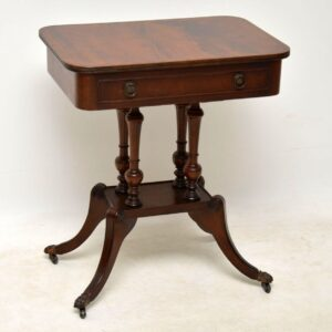 Antique Regency Style Mahogany Side Table