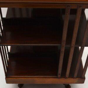 Antique Solid Mahogany Revolving Bookcase