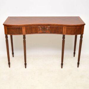 Antique Inlaid Mahogany & Kingwood Server Console Table