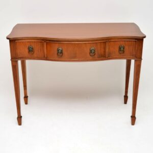 Antique Mahogany Serpentine Fronted Server Table