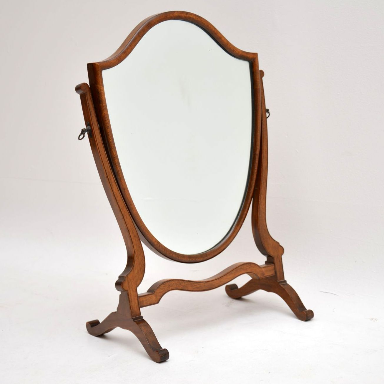 Antique Mahogany Table Top Dressing Mirror