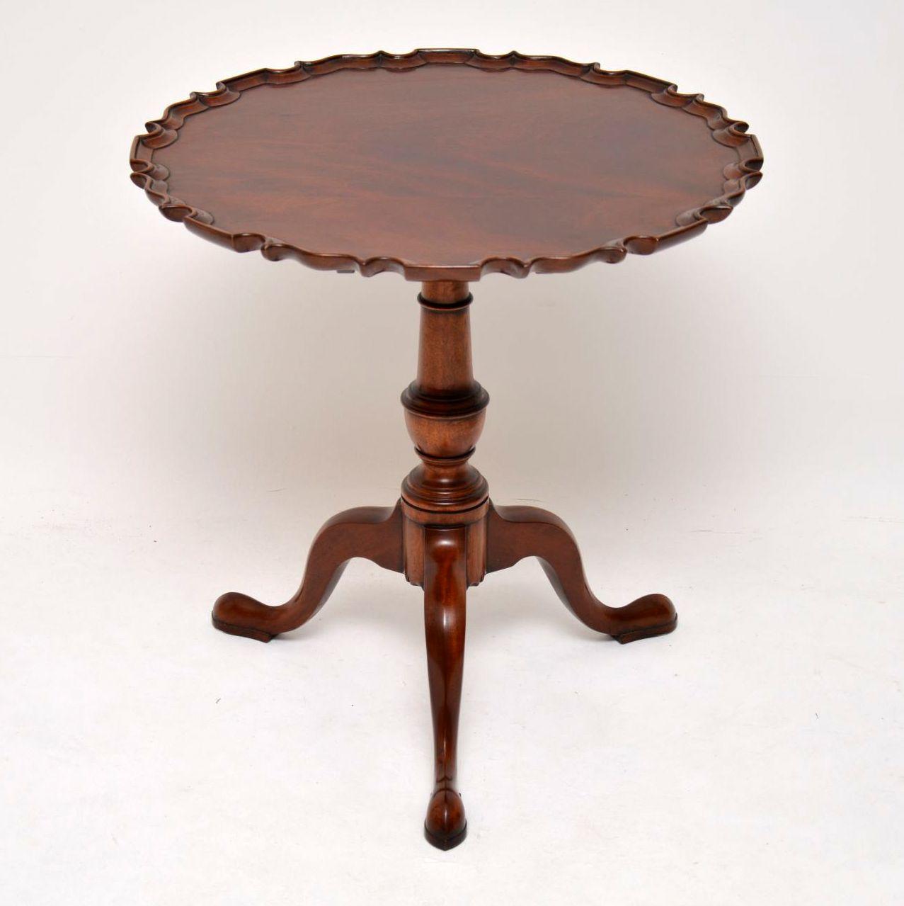 Antique Georgian Style Mahogany Tilt Top Table
