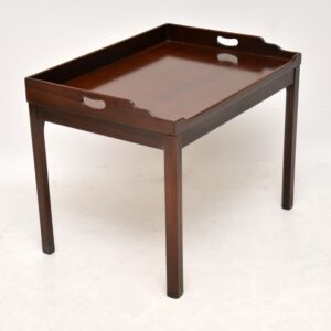 Antique Mahogany Tray Top Coffee Table