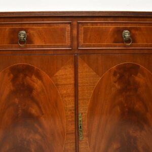 Antique Inlaid Mahogany Bow Front Cabinet