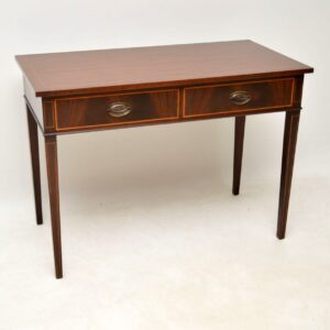 Antique Georgian Style Inlaid Mahogany Writing Table