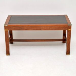 Antique Mahogany Leather Top Coffee Table