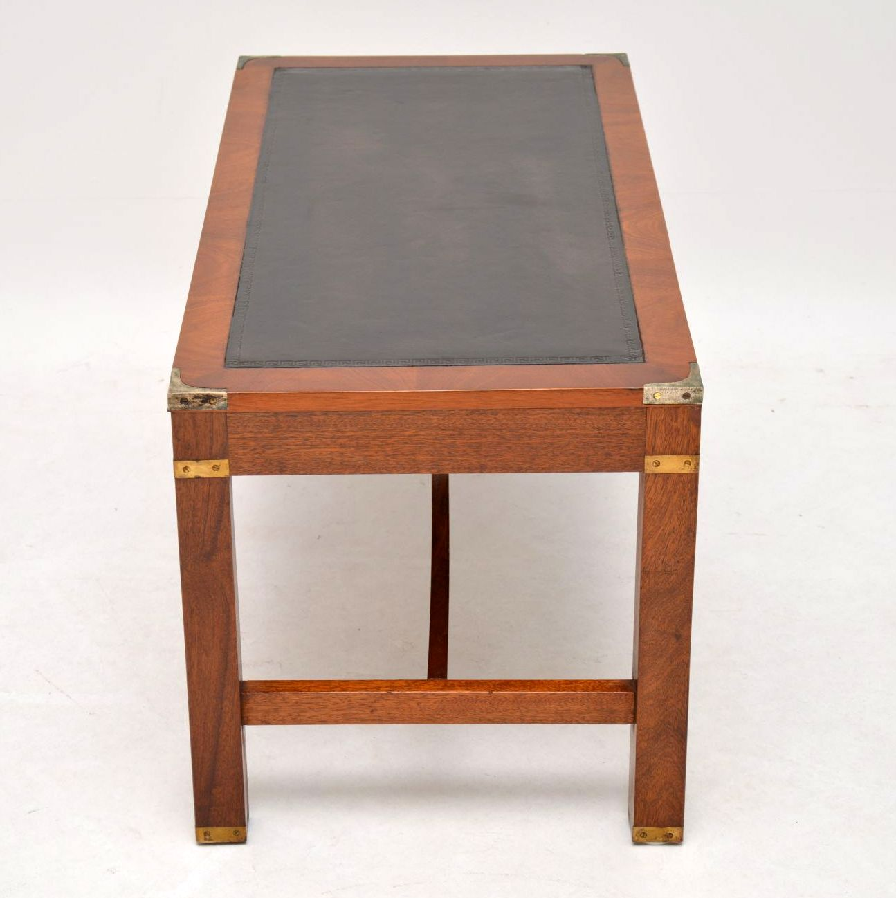 - Antique Mahogany Leather Top Coffee Table - Marylebone Antiques