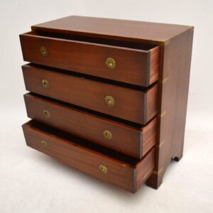 Antique Mahogany Campaign Style Chest of Drawers