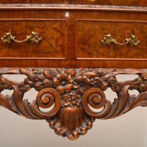 Antique Burr Walnut Cocktail Cabinet