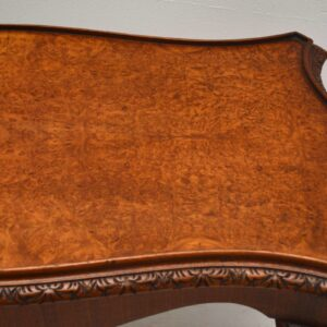 Antique Queen Anne Style Burr Walnut Coffee Table