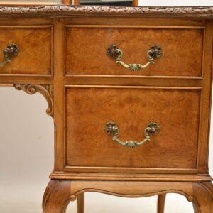 Antique Burr Walnut Queen Anne Dressing Table
