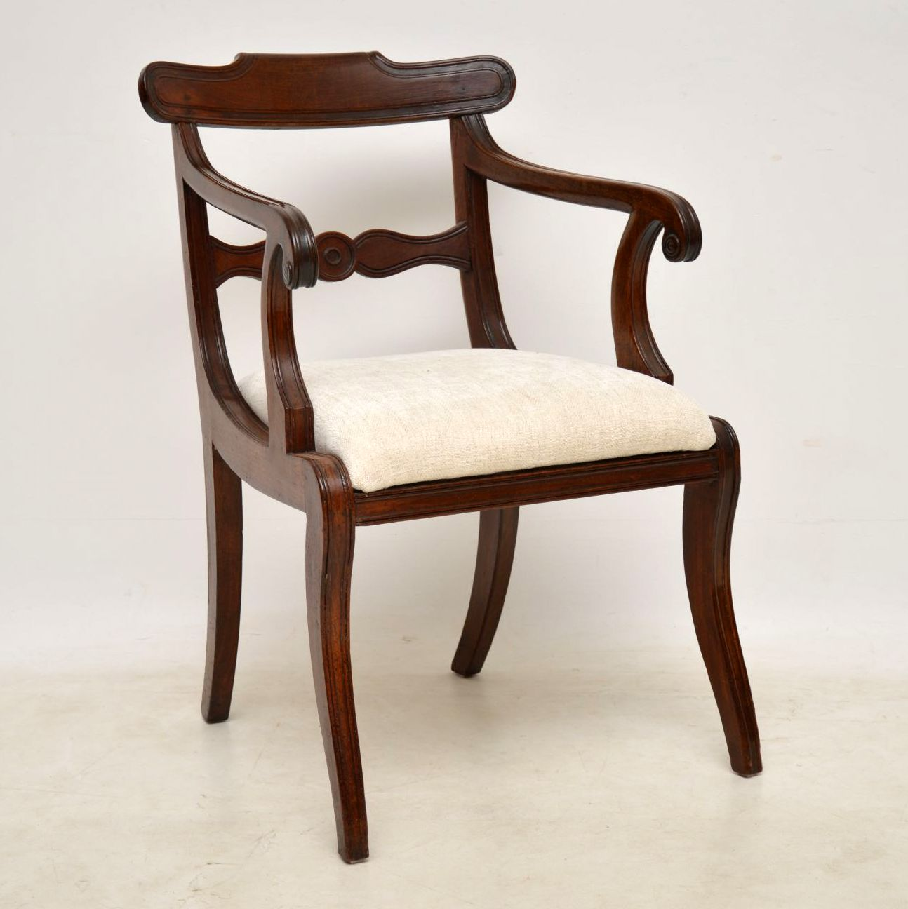 Antique Regency Mahogany Carver Armchair