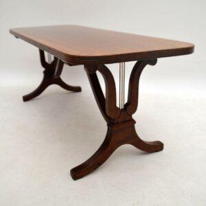 Antique Regency Style Mahogany Coffee Table