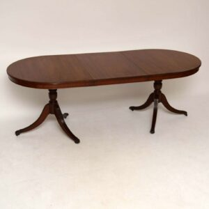 Antique Regency Style Inlaid Mahogany Dining Table