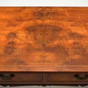 Antique Regency Style Burr Walnut Sofa Table