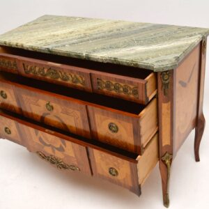 Antique Swedish Marble Top Commode Chest