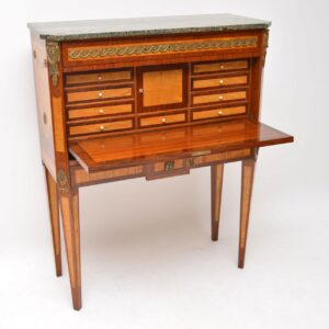 Antique Swedish Marble Top Secretaire