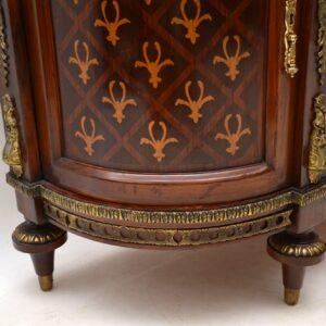 Antique Swedish Inlaid Marquetry Marble Top Cabinet