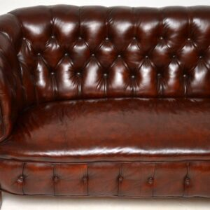 Antique Deep Buttoned Leather Chesterfield Sofa