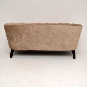 Art Deco Swedish Scalloped Back Sofa