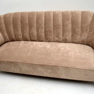 Art Deco Swedish Scalloped Back Sofa