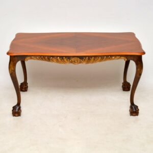 Antique Swedish Satin Birch Coffee Table