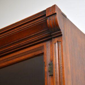 Antique Arts & Crafts Walnut Secretaire Bookcase