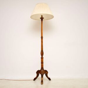 Antique Carved Walnut Floor Lamp