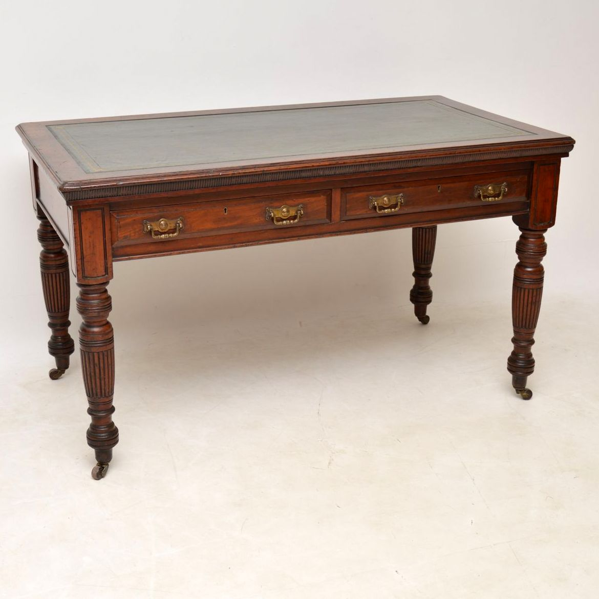 Large Antique Victorian Mahogany Writing Table / Desk