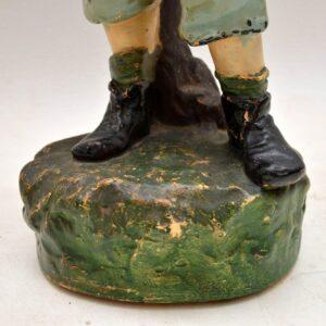 Antique Decorative Chalk Ware Figure of a Boy