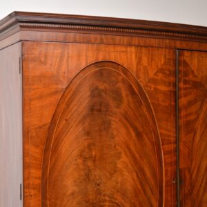 Antique George III Bow Fronted Linen Press
