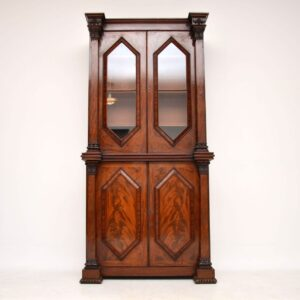 Antique William IV Flame Mahogany Bookcase