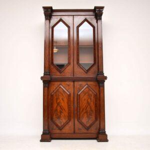 Antique William IV Flame Mahogany Bookcase