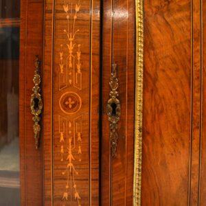 Antique Victorian Inlaid Walnut Credenza
