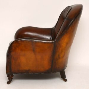 Antique Victorian Leather Armchair