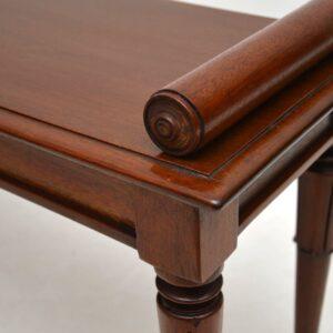 Antique William IV Mahogany Bench / Window Seat