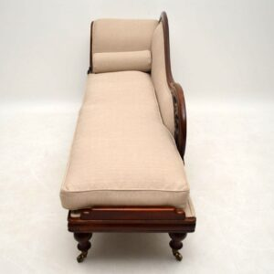 Antique William IV Mahogany Chaise Lounge