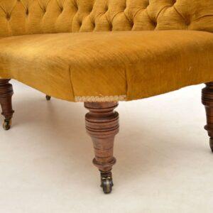 Antique Victorian Corner Sofa Chaise Lounge