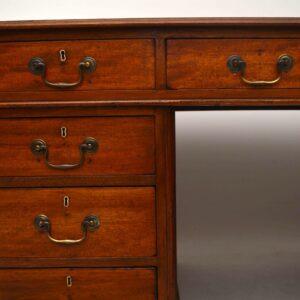 Large Antique Victorian Mahogany Pedestal Desk