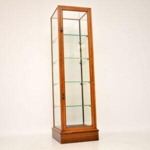 Antique Victorian Mahogany Display Showcase by F. Maund & E. Berg