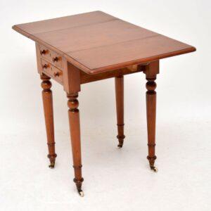 Antique Victorian Mahogany Drop Leaf Side Table