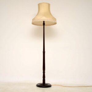 Antique Mahogany Lamp Stand & Shade